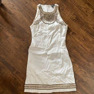 Beautiful white beaded shift dress